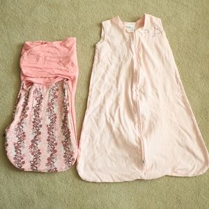 Other - Lot of 2 Pink Swaddle Blankets Sleep Sack